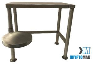 KryptoMax® Detention Desk with-Swivel Stool