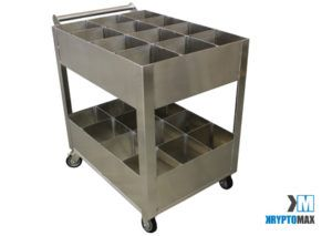 KryptoMax® Detention Kitchen Utility Cart