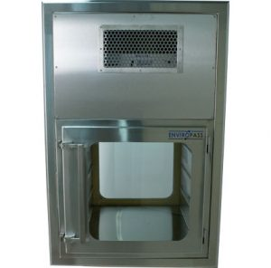 ENVIROPASS® Stainless Steel Ventilated Pass-Through with Fan Filter Unit Front View