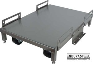 G2 Endurasteel® Stainless Steel UPS Cart showing view from top angle